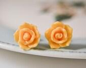 Exotic Rose Post Earrings