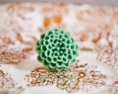 Mum flower Ring- Sea Green