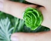 Majestic Rose Ring- Olive