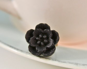 Cherry Blossom Ring - Black