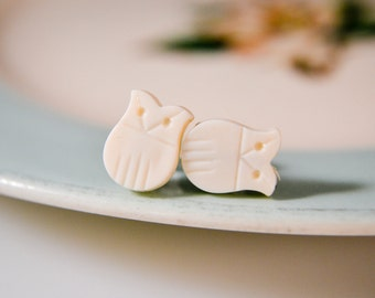 Snow Owl Earrings