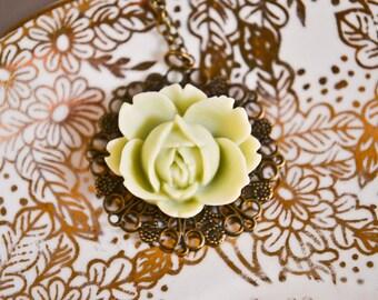 Lotus Necklace- Mint