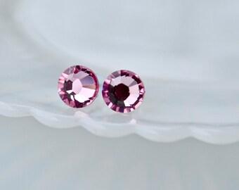Swarovski crystal earrings - Pink