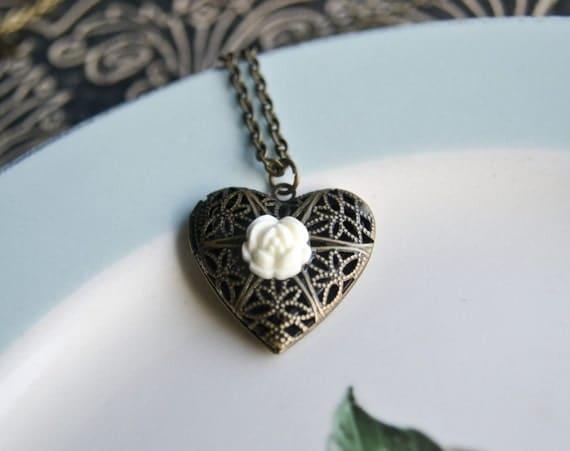 Shop Closing- Love In Bloom... locket necklace
