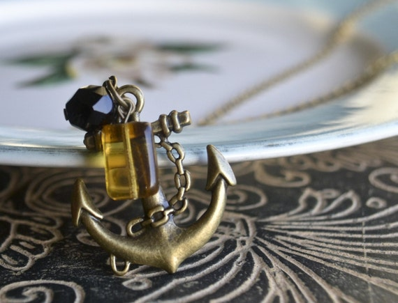 Shop Closing-Anchors away necklace