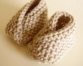Newborn baby shoes  - Oatmeal