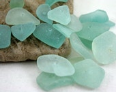 Sea Glass, Centre Drilled, Seafoam, Small, Beads, Hand Drilled, Beach Glass, Jewelry Supplies by SarahSeaGlass