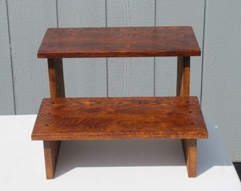 Oak Step Stool childen's step stool wood furniture made to order