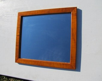 Wooden Mirror, tiger maple, made to order