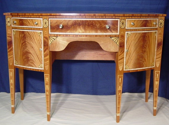 Mahogany Inlaid Sideboard heirloom quality wood furniture