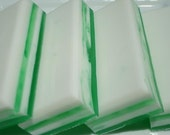 Coconut Lime Soap, Coconut Soap, White and Green Soap, Homemade Soap, Bar Soap, Tropical Soap - 1/4 lb Soap - One Quarter Pound Soap