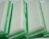 Coconut Lime Soap - Green and White Striped Soap - Homemade Soap - Bar Soap - 1/4 lb Soap - One Quarter Pound Soap