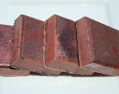 Dragon's Blood Soap, Red Poppy Seed Soap Bar, Homemade Soap, Bar Soap