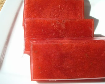 Bite Me Soap, Red Soap, Homemade Soap, Pretty Soap, Bar Soap - 1/4 lb Soap - One Quarter Pound Soap