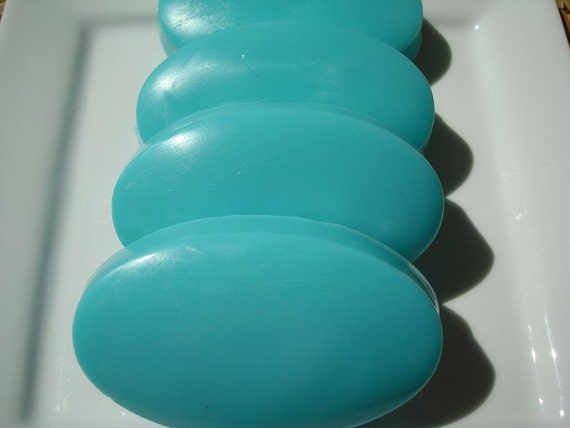 CLEARANCE Freesia Soap, Blue Soap with Shea Butter, Hoooked Soap, Homemade Soap, Pretty Soap, Bar Soap