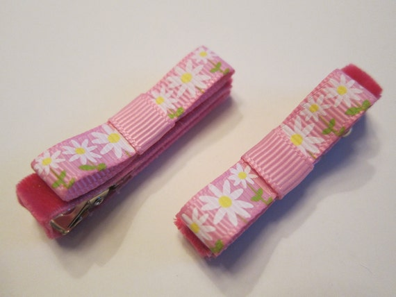 Springtime Flowers Clippies.  Perfect Accessory for Easter - READY TO SHIP