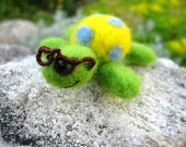 Children decor Sea turtle Dollhouse miniature soft toy green geek felted animal soft toy Birthday gifts for teens boys geekery