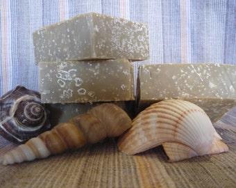 Peppermint Sea Scrub Goat Milk Soap(5 to 6 oz Bar)