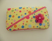 Yellow Multi color baby wipe case matches Nursing covers