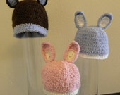 Peter Cotton Tail Crochet Newborn Beanie