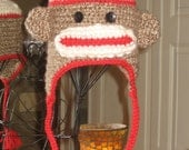 Children's Sock Monkey hat - Made to Order