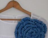 True Blue Blossom pin - Custom order for Liz