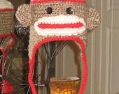 Children's Sock Monkey hat - Ready to Ship