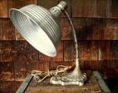 Vintage Antique Gooseneck Industrial Lamp Art Nouveau Style
