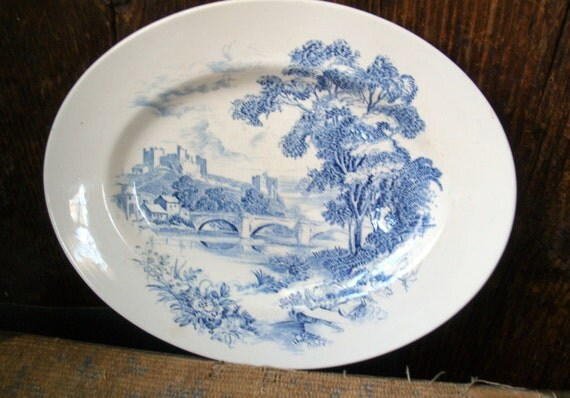 PRICE REDUCED Vintage Platter Enoch Wedgewood Countryside Plate Made In England