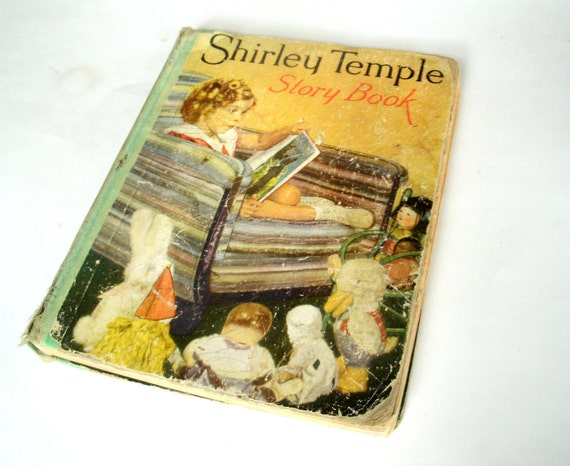 1930s Shirley Temple Story Book  1935 Saalfield Publishing Co. Akron, Ohio, NY  CLEARANCE