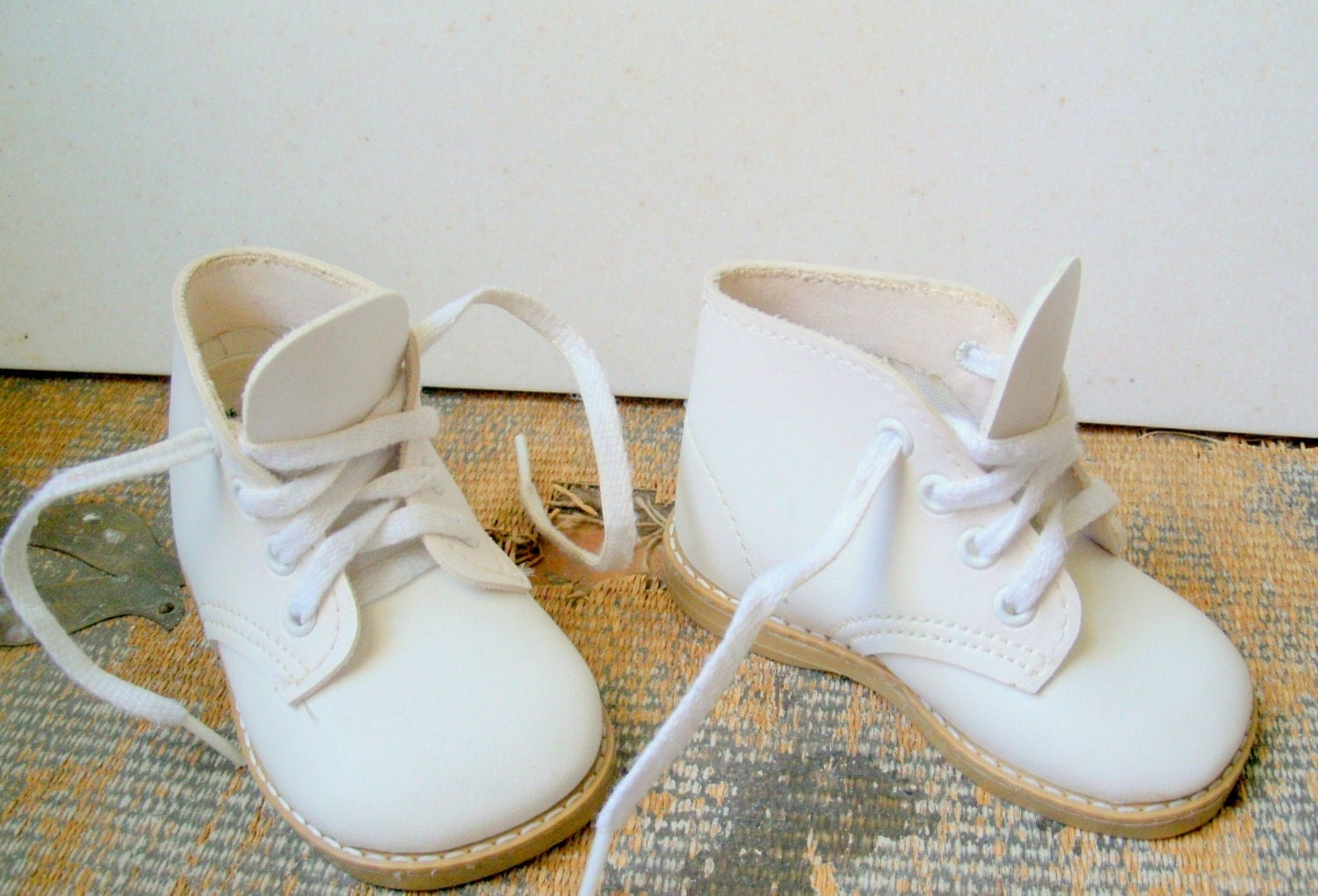 vintage baby shoes white walking shoes size by