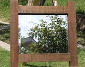 Rustic Wood Framed Mirror - Limited Series 2 of 6 - made with reclaimed old growth lumber