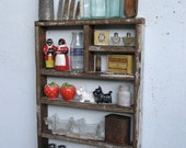 Rustic Wood Shadow Box Shelf Spice Rack - reclaimed Humboldt Milling Company Old Growth Lumber