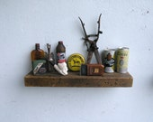 Rustic Floating Wood Shelf - lumber from an 1860/70's Gold Mine Camp in the Eastern Sierra Nevada Mountains