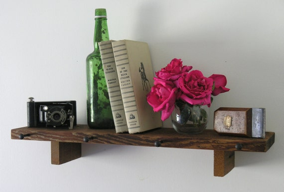 Rustic Wood Shelf made with reclaimed Humboldt Milling Company Old Growth Lumber