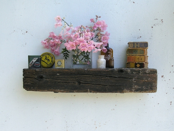 Rustic Wood Floating Shelf Mantel - lumber from an 1860/70's Gold Mine Camp in the Eastern Sierra Nevada Mountains