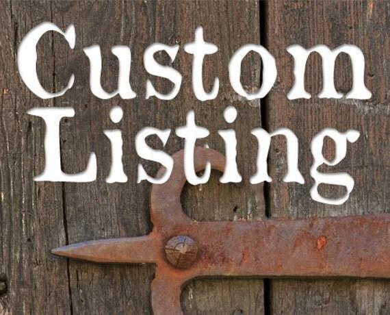 Custom Listing for HomespunSprout - Rustic Wood Shelf