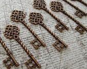 Farnham Antique Copper Skeleton Key  - Set of 10