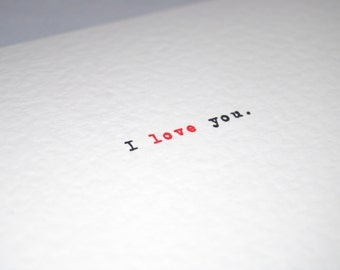 Valentines Day card I love you Anniversary