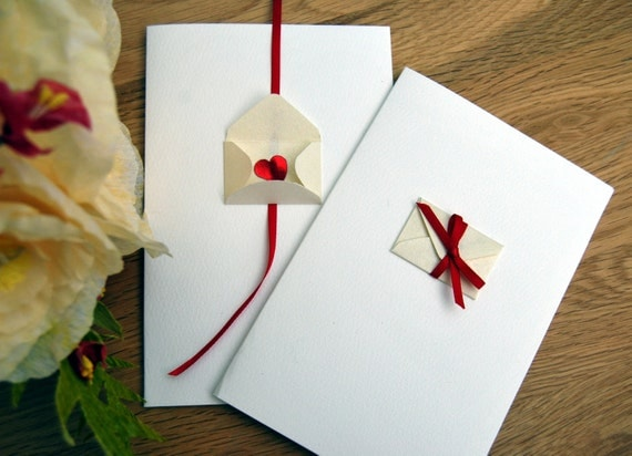 50 Wedding invitations heart bow valentines cards