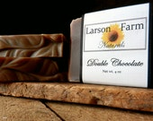 CHOCOLATE Soap, Handmade Soap, Cocoa Butter Soap with cocoa powder, Double Chocolate