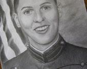 Custom Pencil Portrait From Photo 11 x 14 - Single Person