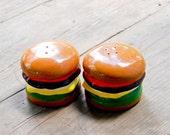 delicious vtg hamburger salt and pepper shakers