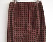 Betsey Johnson Plaid Corduroy Skirt