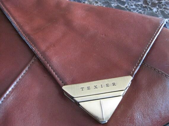 Texier Brown Leather Backpack, Vintage, Nice Patina