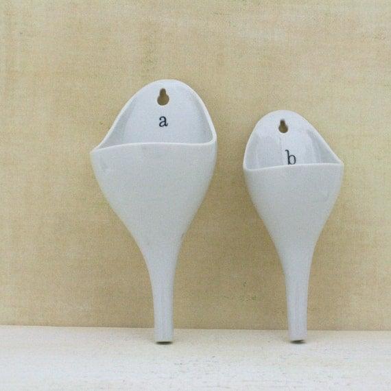 Vintage Porcelain Funnels Made in Japan personal urinal mold