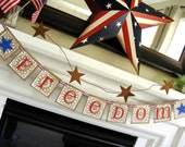 FREEDOM 4th of July, Memorial Day, Veterans Day, Banner, Photo Prop, America, Military Welcome Home sign