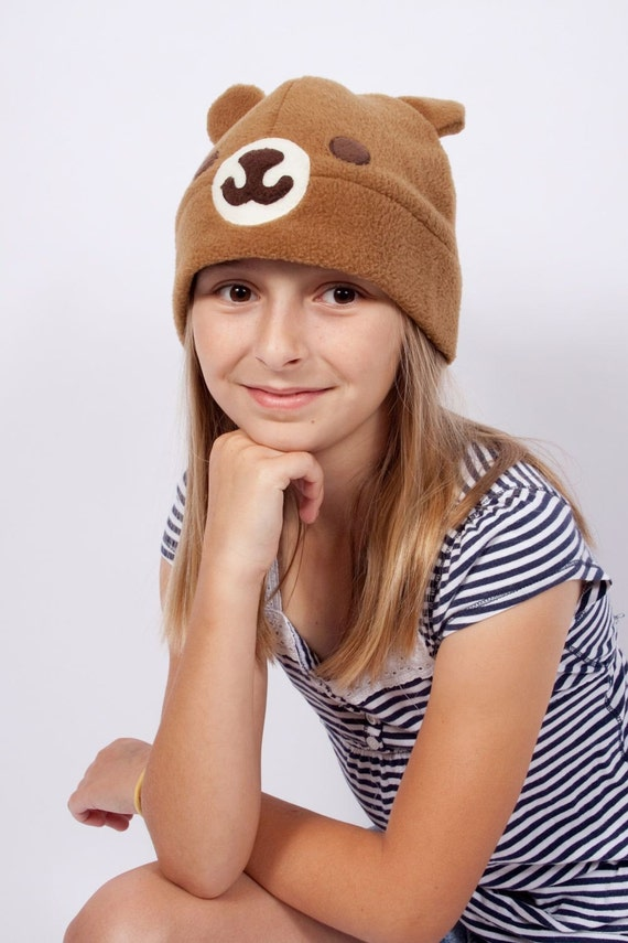 Biscuit Bear Fleece Hat