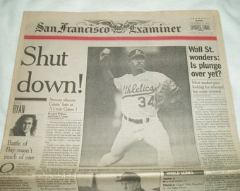 World Series in Oakland California, October 5th 1989