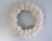 "Burlap Wreath - 14"" - White"